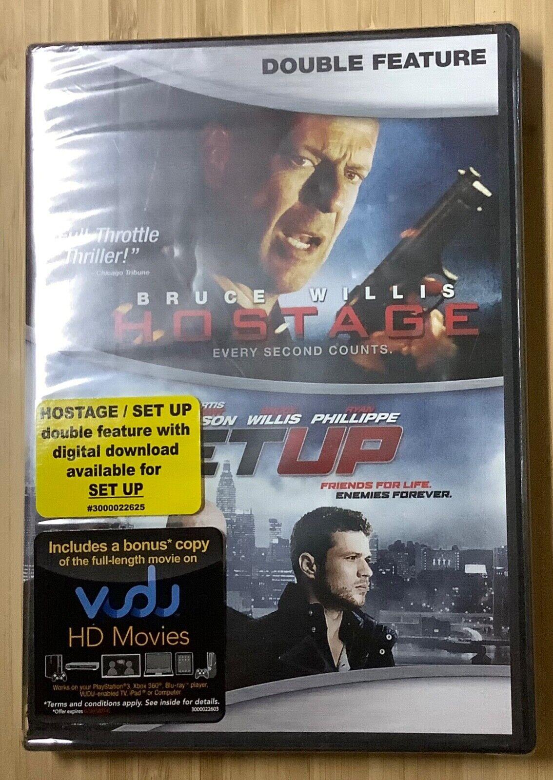 Hostage 2005 /Set Up 2011 DVD Bruce Willis Ben Foster 50 Cent Jackson SEALED - $10.00