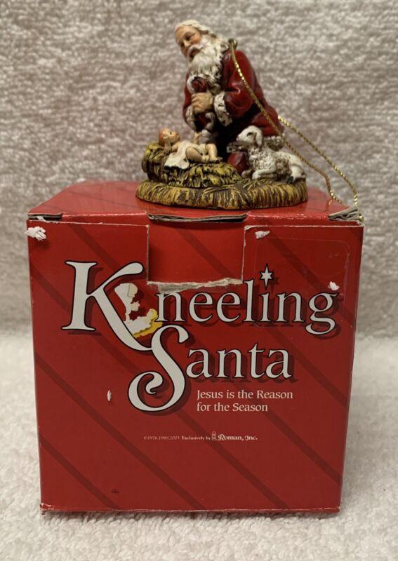 "Roman KNEELING SANTA ornament 26779 Baby Jesus Christmas Holiday  2-1/4"" New"