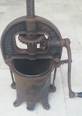 Antique Cast Iron Enterprise 4 Quart Sausage Press Stuffer No. 25