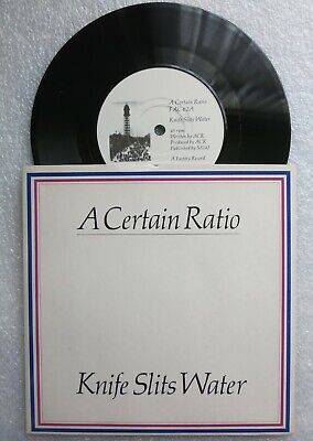 "A CERTAIN RATIO - Knife Slits Water / Tumba Rumba 1982 UK Vinyl 7"" Single FAC 62"