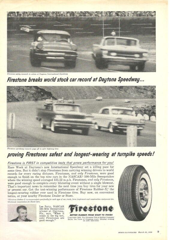 Firestone 122 print ads SportsIllusReadersDigestPathfinderAutocarMotor 1914-1999
