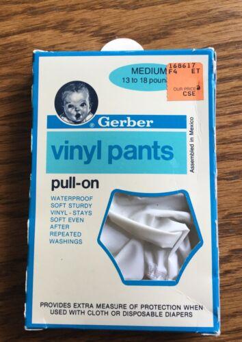 Vintage Gerber Vinyl Pants Pull on Medium Baby 13-18 lbs1987 New In Box
