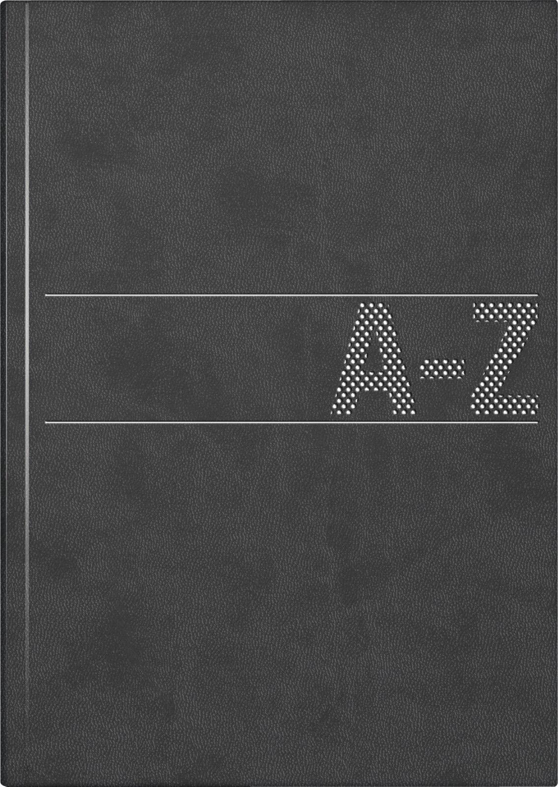 Telefonbuch Adressbuch Adresskartei Telefonregister schwarz A-Z Brunnen A5