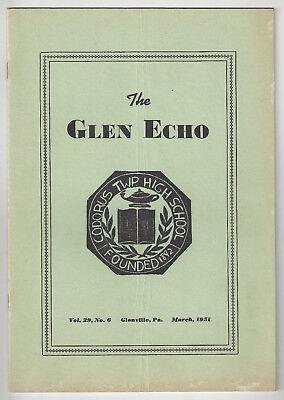 Glenville  Pa   The Glen Echo   Codorus Township High School News Booklet 1951