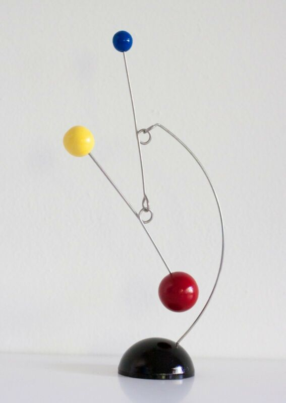 Red, Yellow, Blue & Black Tabletop Mobile Mid-century Modern Sculpture Stabile