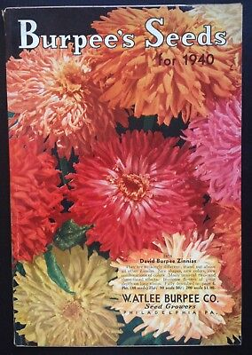 ORIGINAL 1940 BURPEE'S SEED CATALOG 160 PAGES W/ORDER FORM, ENVELOPE