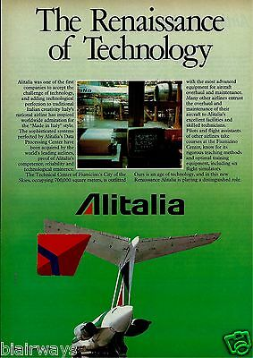 Alitalia 1988 The Renaissance Of Technology Fiumicino Tech Center Rome Md 80 Ad