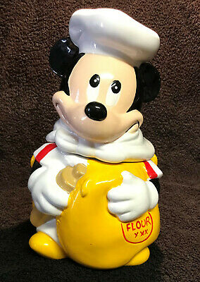 Vintage MICKEY MOUSE COOKIE JAR with Flour Sack by HOAN LTD Collector