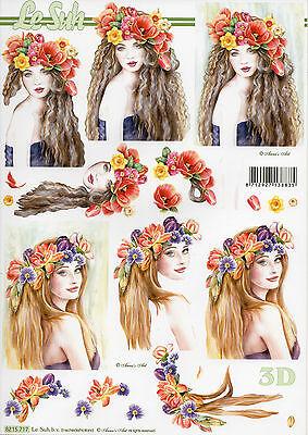 3D Bogen Motivbogen Etappenbogen Grußkarte Scrapbooking Blumenmädchen (256)
