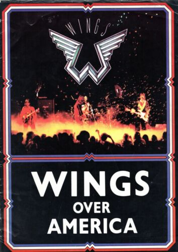 PAUL McCARTNEY 1976 WINGS OVER AMERICA TOUR CONCERT PROGRAM BOOK-VG TO EXCELLENT