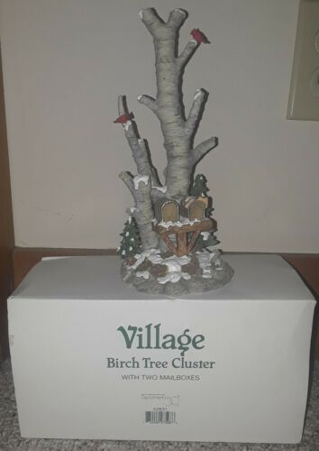 Dept 56 Village Accessory Birch Tree Cluster W/ Mail 2 Boxes #52631