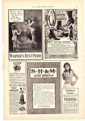1900 Ad Warner Rustproof Corsets Victorian Undergarments Clothing  on page of ad