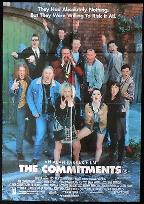 THE COMMITMENTS Original One sheet Movie Poster Robert Arkins Michael Aherne