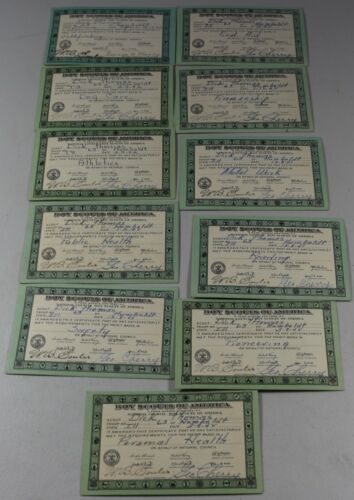 VTG Boy Scouts of America Merit Badge Cards 1941 & 1942 Lot of 11