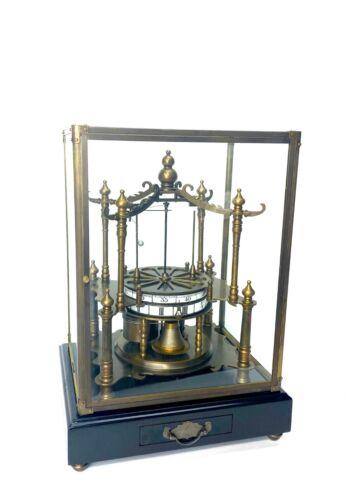 French Style Annular Dial Flying Ball Pendulum Pavilion Brass Skeleton Clock