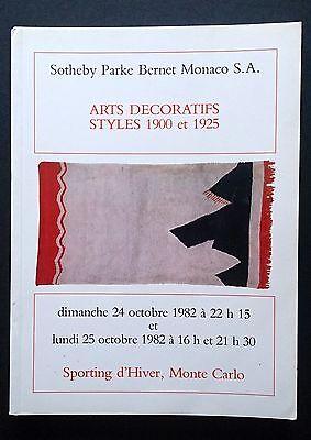 Sotheby Parke Bernet Monaco Decorative Art 1900 1925 Galle Dunand Pierre Chareau