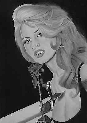 Brigitte Bardot original graphite pencil drawing