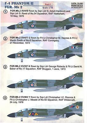 Print Scale Decals 1/72 MCDONNELL DOUGLAS F-4 PHANTOM II FGR. Mk.2 Part 1
