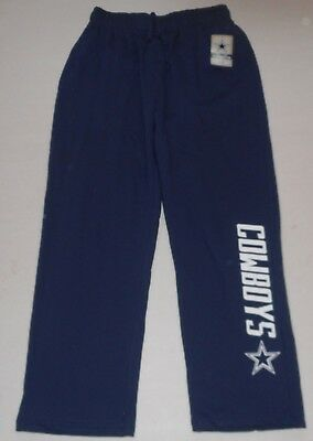 (DALLAS COWBOYS AUTHENTIC APPAREL MEN'S SWEATPANTS M L XL 2X NAVY COTTON BLEND)