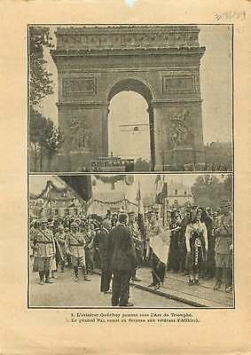 Image Aviateur Charles Godefroy vol sous l'Arc de triomphe Paris 1919 ILLUSTRATION
