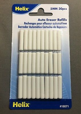 Helix Auto Eraser Refills Pack Of 30 19071 - Refills For Item H19060