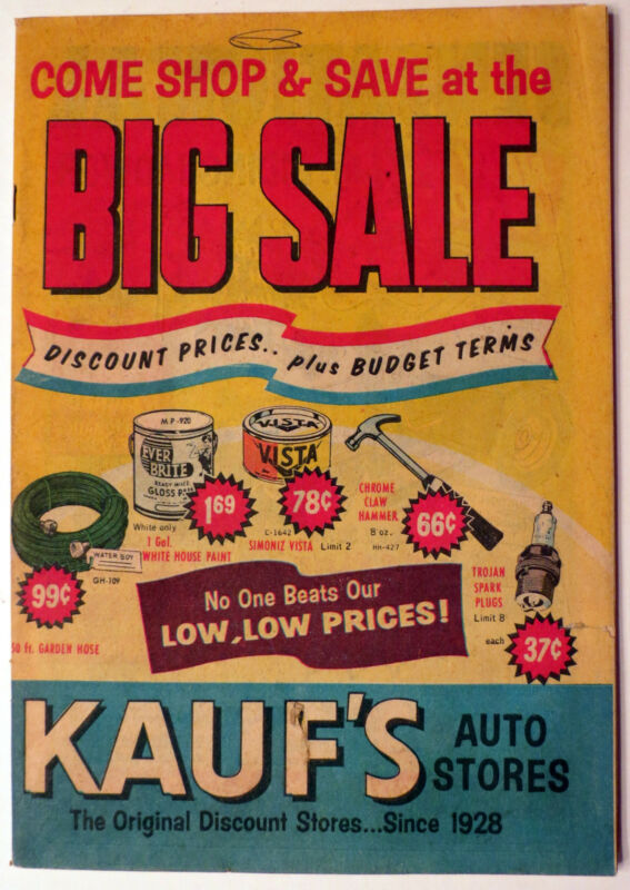 1960 Kauf's Home/Auto Stores Big Sale Catalog