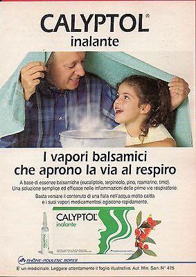 Pubblicità Advertising Werbung 1996 Calyptol inalante RHONE-POULENC RORER