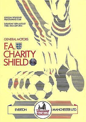 Everton v Manchester United - 1985 - Charity Shield