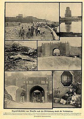China-Boxeraufstand * Tientsin nach der Erstuermung /Schanghai Bilddokument 1900