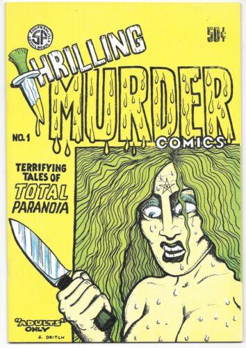 Thrilling Murder Comics #1 1971 Underground Comic Rare Error Variant Crumb Spain