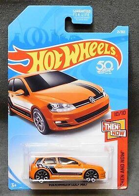 2018 Hot Wheels Car 21/365 Volkswagen Golf MK7 - A or B or D Case