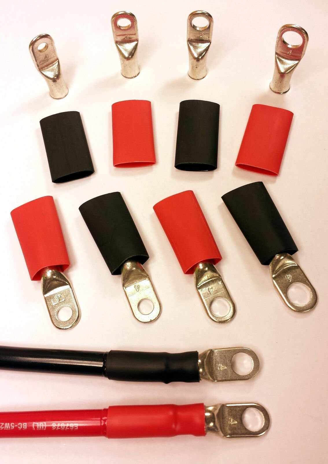 4 Awg Gauge Cable Lugs Ring Terminals Battery Wire