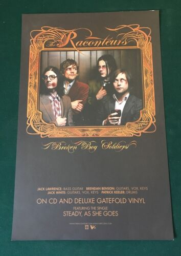 THE RACONTEURS Broken Boy Soldiers 2006 V2 Promo Poster 11x17 Jack White