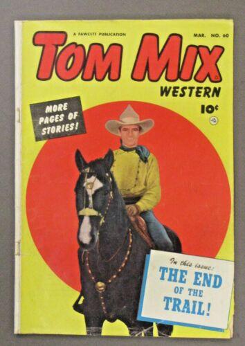 Fawcett 1953 TOM MIX WESTERN #60 photo cover Comic Book TM