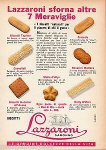 Pubblicita-Advertising-1960-Biscotti-LAZZARONI