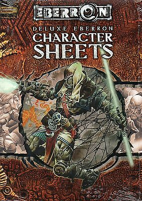 Dungeons & Dragons-D&D-EBERRON-Deluxe Character Sheets-RPG-d20-OVP-New-Neu-rare