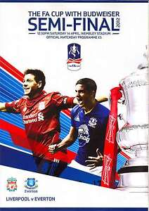 ** FA CUP SEMI FINAL 2012 EVERTON v LIVERPOOL MINT PROGRAMME **