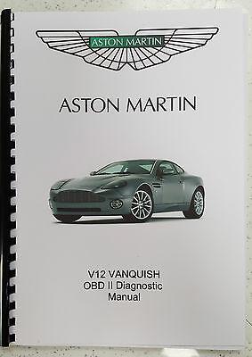 ASTON MARTIN V12 VANQUISH (01 - 07) OBD II DIAGNOSTIC MANUAL PRINTED A4
