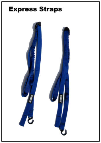 THULE EXPRESS STRAPS 531, Quality Rooftop Bungee Board Strap Set (2), Blue *NEW*