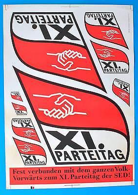 DDR Plakat Poster 1270 | XI Parteitag der SED 1985 | 81 x 57 cm Original DEWAG