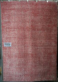 RRP.$695 New Bayliss Quay Wool Viscose Red Hand Tufted Rugs