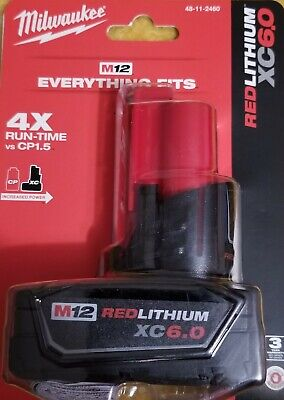 Milwaukee 48-11-2460 M12 RedLithium XC6.0 Battery Pack   Brand New