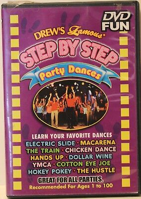Drew's Famous Step by step party dances DVD electric slide macarena YMCA & more