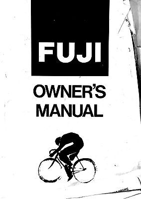 fuji bike owners manual open source user manual u2022 rh dramatic varieties com Fuji Mountain Bikes Fuji Road Bikes