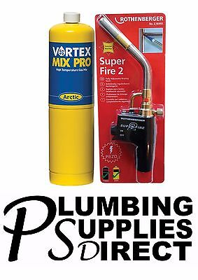 * Rothenberger Super Fire 2 Blow Brazing Torch & Mapp Gas Welding Plumbing