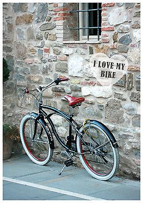 """Postkarte Fahrradmotiv mit Herz """"I love my Bike"""" 10 Karten als Paket"""