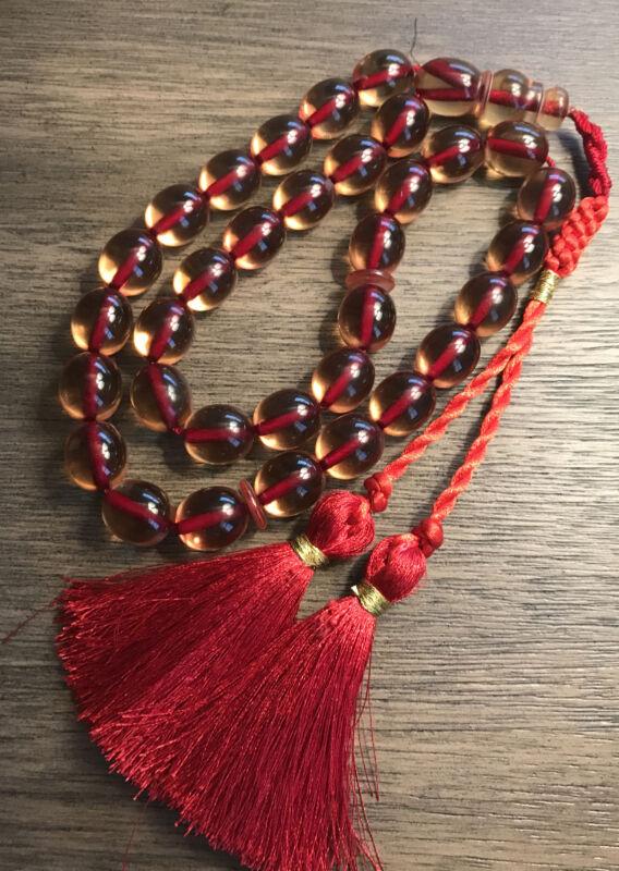 New Collectible Turkish Sandalos Amber Rosary 33 Beads سبحة مسبحة سندلوس