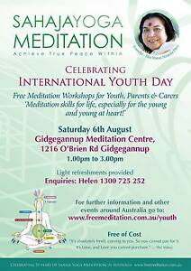Free Meditation Workshop for UN International Youth Day Perth Perth City Area Preview