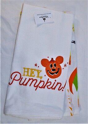 Disney Parks Exclusive Halloween Hey Pumpkin Vampire Mickey Dish Towel Set NEW