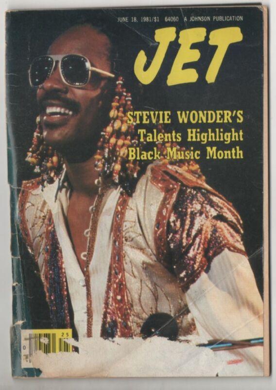 Jet MagazIne  Stevie Wonder Cover June18, 1981